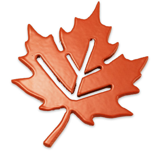 "3"" Maple Leaf w/Earthen Magnet (orange)"