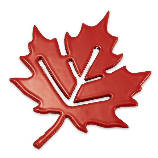 "3"" Maple Leaf w/Earthen Magnet (Red)"