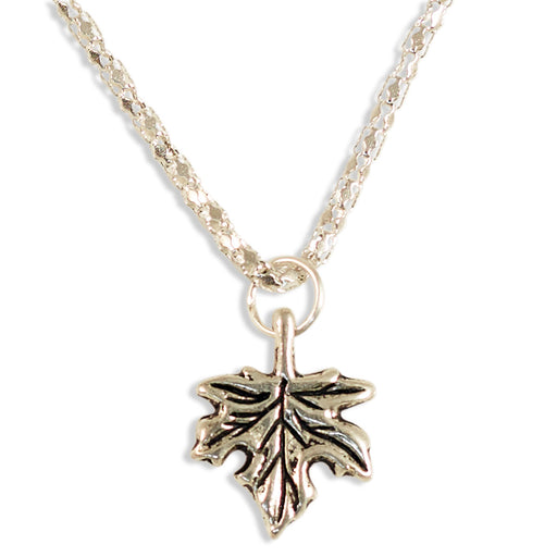 Maple Leaf Necklace Silver