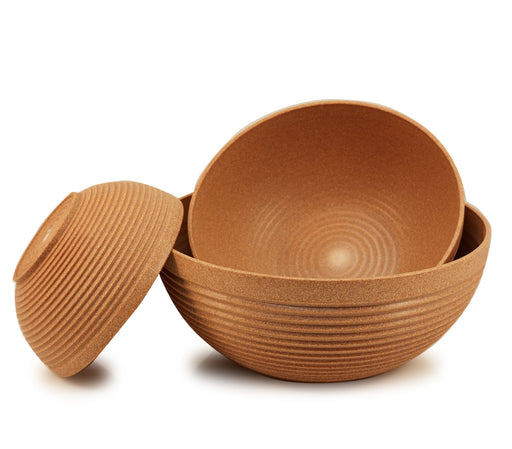 "Maple Origins 3 Piece Bowl Set (driftwood color) 1) 7 1/2""x3 1/4"" bowl, 1) 10""x4"" bowl and 1) 12""x5"" bowl"