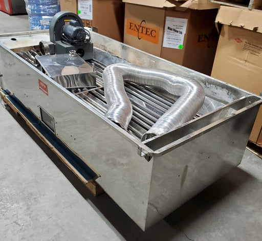 "40""x8' Leader Steam-away Pan w/Blower (made in 2008)"