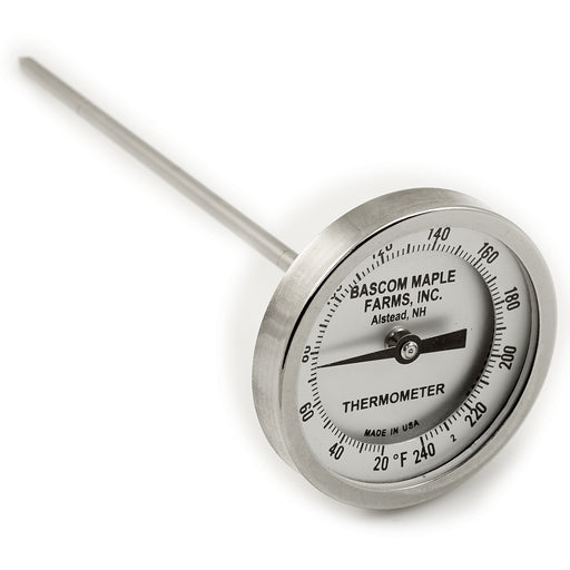 "3"" Dial 20 - 240 Degrees 6"" Stem Thermometer"