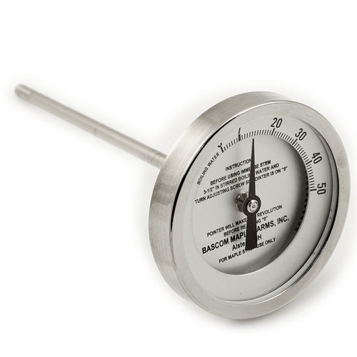 "3"" Dial 0 - 50 Degrees 6"" Stem Thermometer"