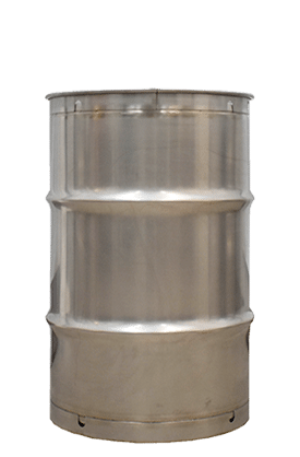 "55 US Gallon SS Drum w/Two Bungs on the Top (1-2"" and 1-3/4"" bung)"