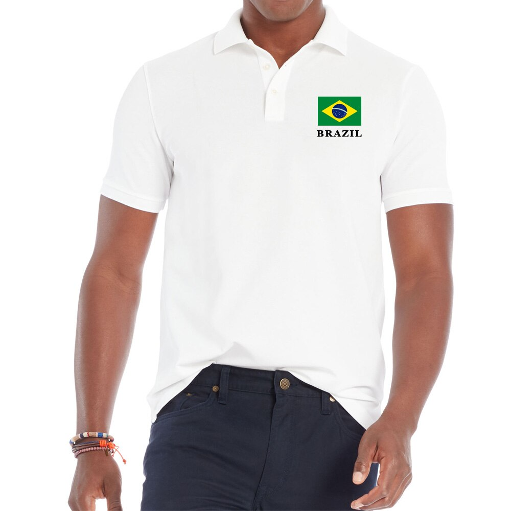 BRAZIL National Flag Men Shirt Cotton Short Sleeve