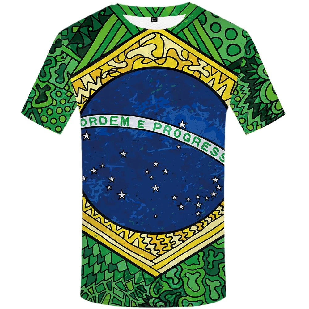 Free Brazil T-Shirt For Brazilian Day