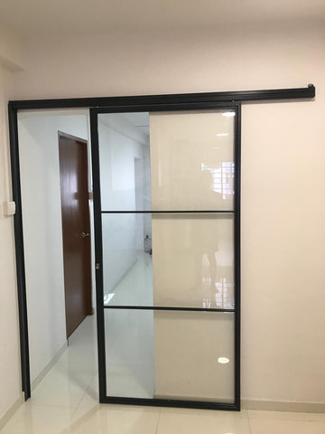 Sliding Mild Steel Glass Door