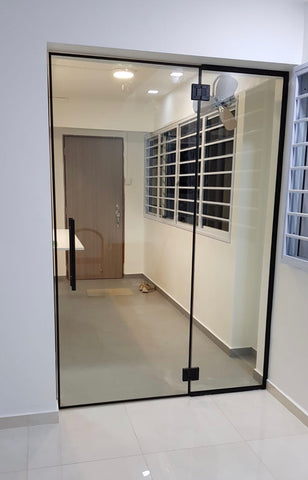 Frameless glass doors singapore