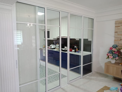 Aluminium Tempered Glass Door