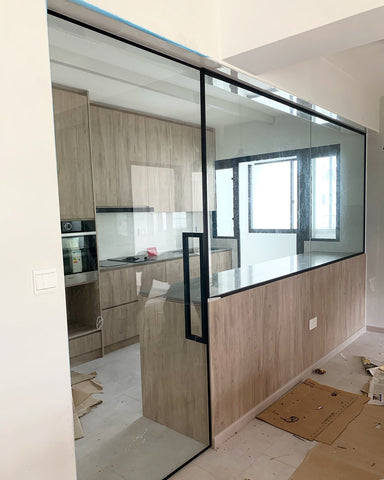 Slim Frame Glass Door