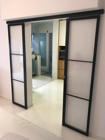 Mild Steel Glass Door