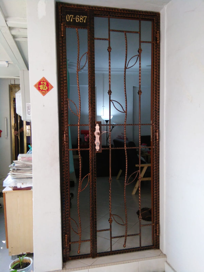 Wrought Iron Gate - WR005 - Metal and Aluminium Fabrication