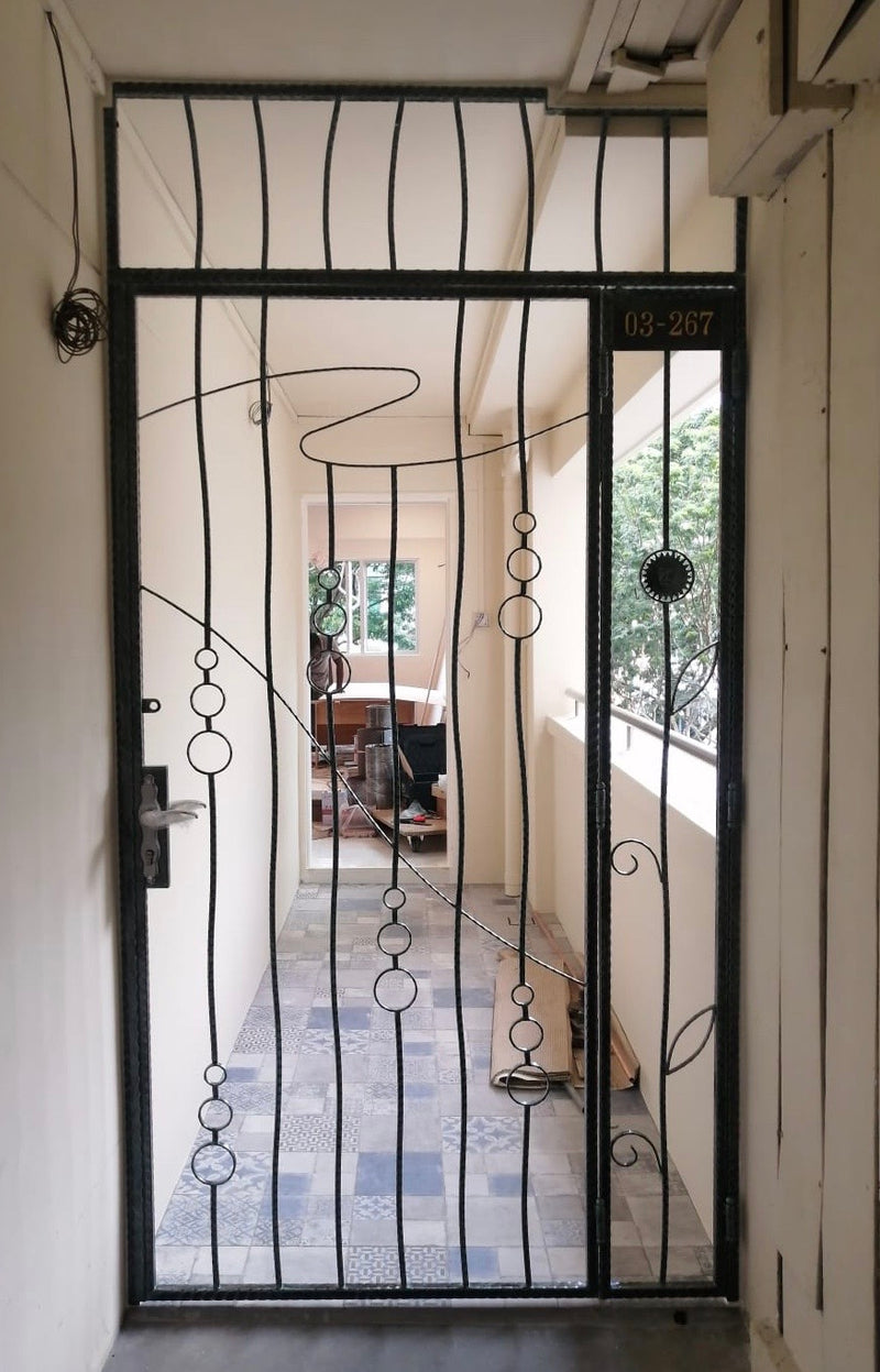 Wrought Iron Gate - WR015 - Metal and Aluminium Fabrication