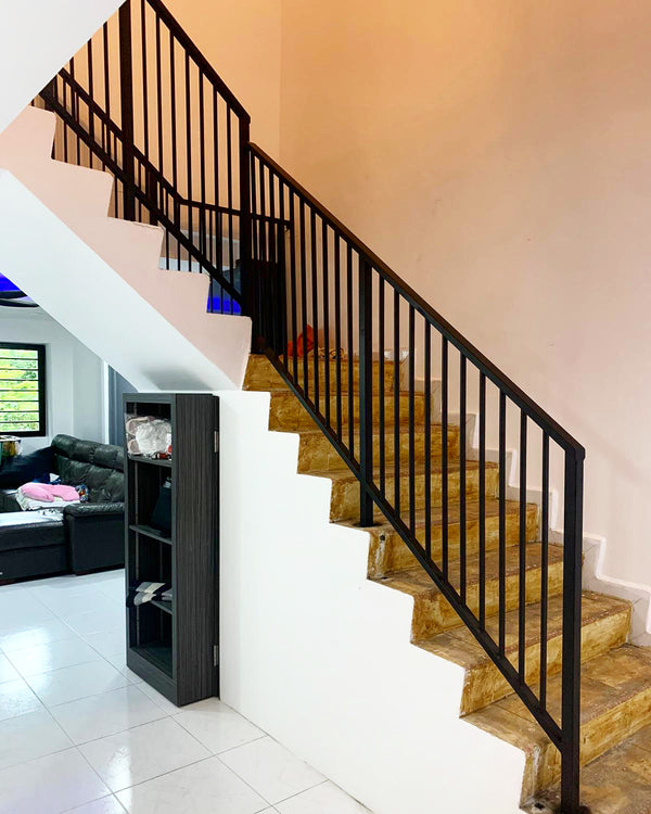 SR009 - Vertical Uniformed Staircase Railings - Metal and Aluminium Fabrication