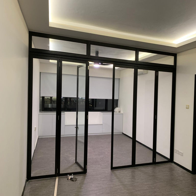 Folding Glass Doors with Aluminium Frame - Metal and Aluminium Fabrication