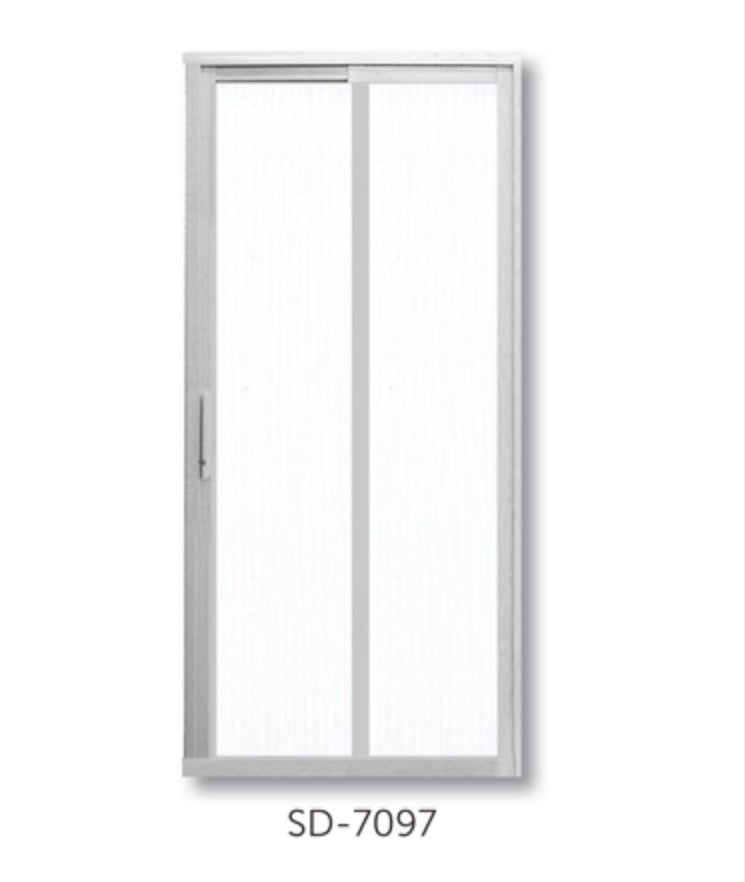Slide and Swing Toilet Door - SD7097 - Metal and Aluminium Fabrication