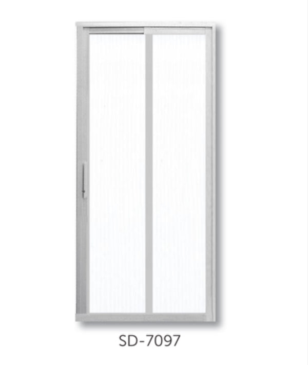 Slide and Swing Toilet Door - SD3005 - Metal and Aluminium Fabrication