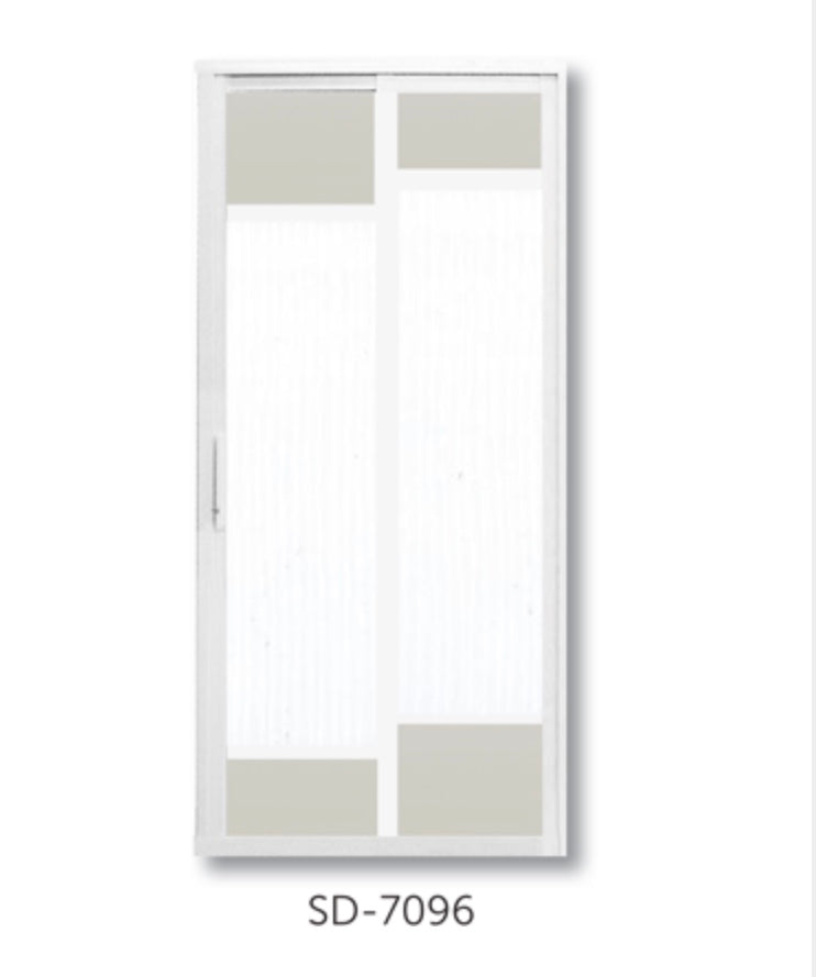 Slide and Swing Toilet Door - SD7096 - Metal and Aluminium Fabrication