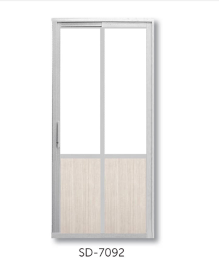 Slide and Swing Toilet Door - SD7092 - Metal and Aluminium Fabrication