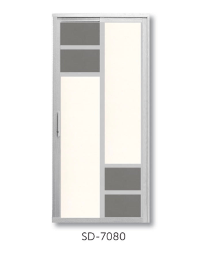 Slide and Swing Toilet Door - SD7080 - Metal and Aluminium Fabrication