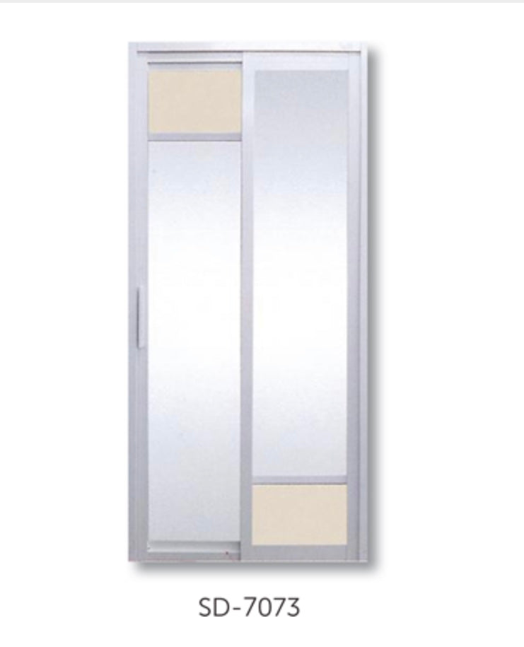 Slide and Swing Toilet Door - SD7073 - Metal and Aluminium Fabrication