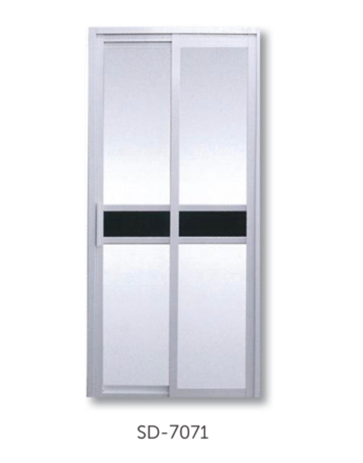 Slide and Swing Toilet Door - SD7071 - Metal and Aluminium Fabrication