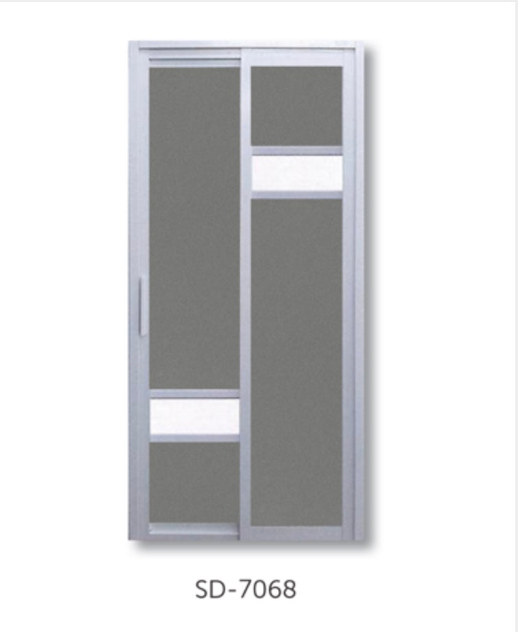 Slide and Swing Toilet Door - SD7068 - Metal and Aluminium Fabrication