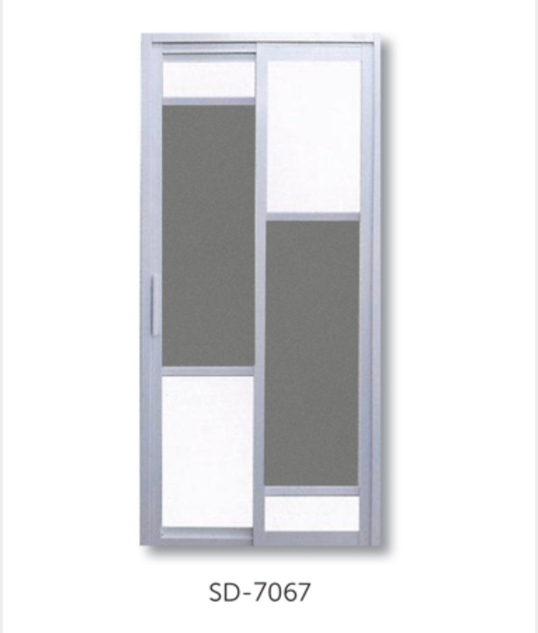 Slide and Swing Toilet Door - SD7067 - Metal and Aluminium Fabrication