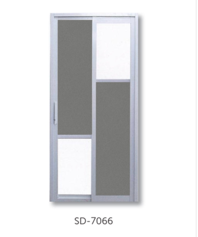 Slide and Swing Toilet Door - SD7066 - Metal and Aluminium Fabrication