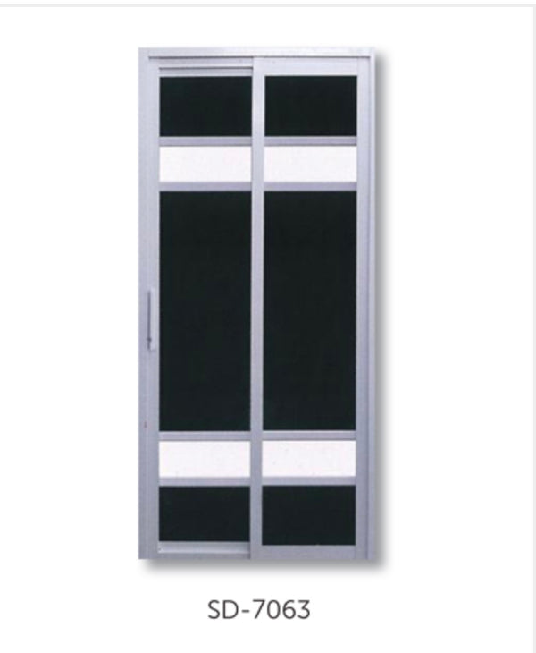 Slide and Swing Toilet Door - SD7063 - Metal and Aluminium Fabrication