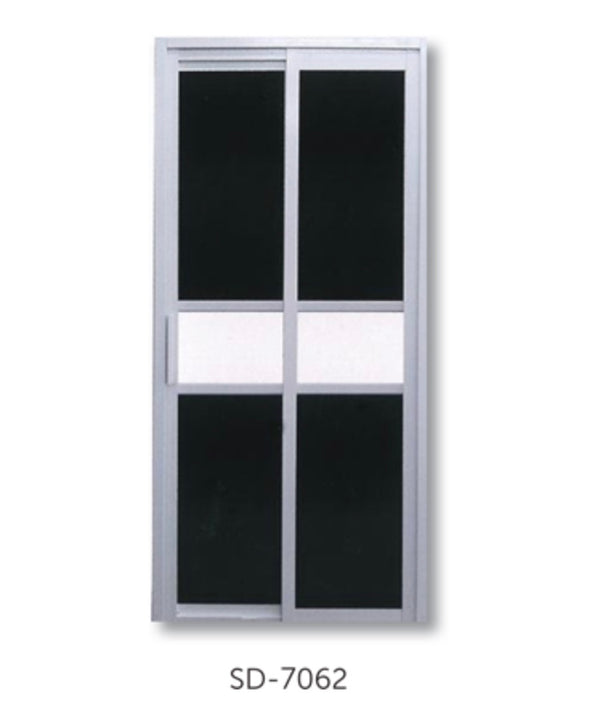 Slide and Swing Toilet Door - SD7062 - Metal and Aluminium Fabrication