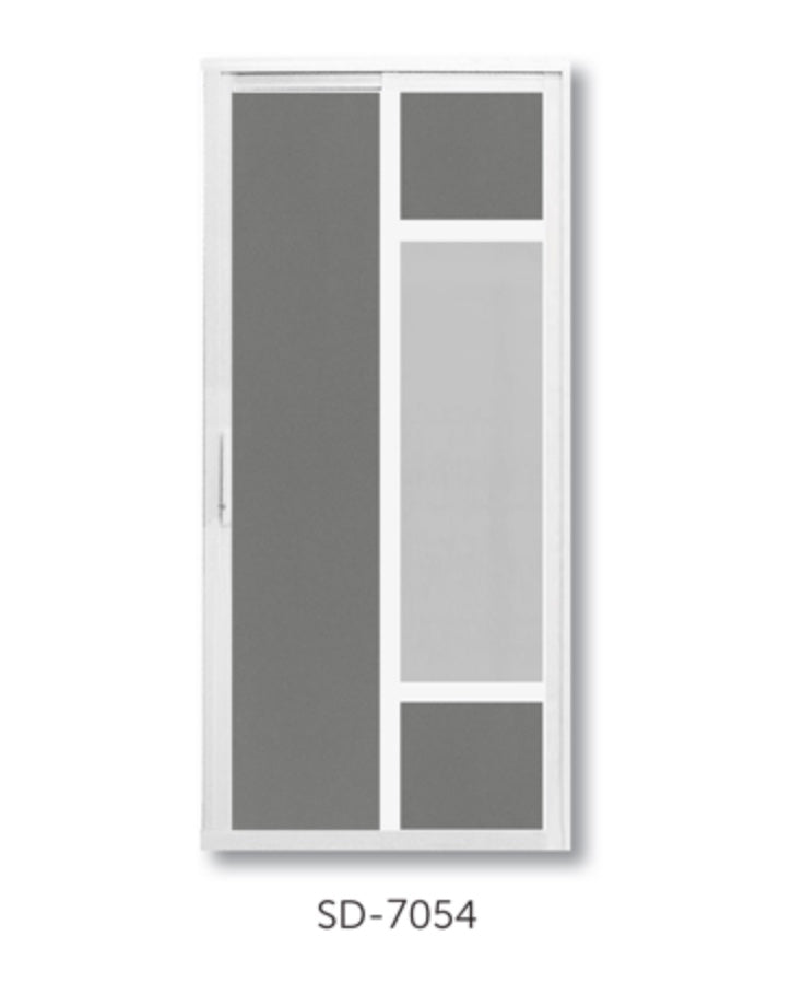 Slide and Swing Toilet Door - SD7054 - Metal and Aluminium Fabrication