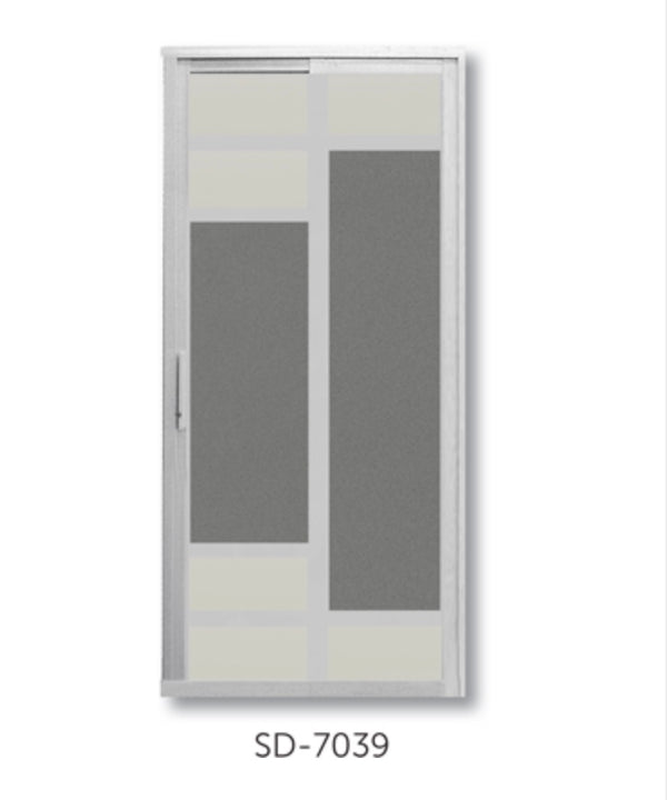 Slide and Swing Toilet Door - SD7039 - Metal and Aluminium Fabrication