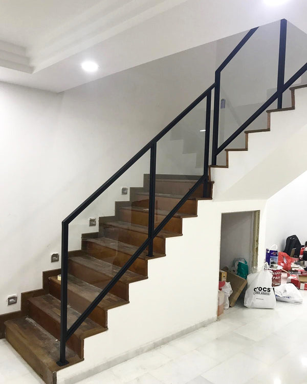 SR001 - Glass Panel Staircase Railings - Metal and Aluminium Fabrication