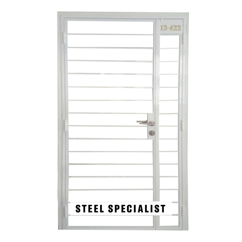 HDB Gate - SH003 Classic Horizontal Grille - Metal and Aluminium Fabrication