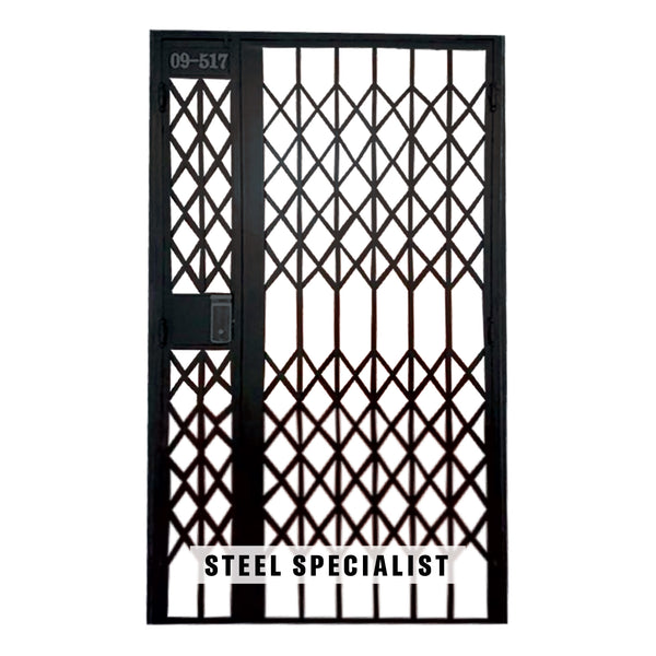HDB Gate - SH004 Vintage Retro Scissors Grille - Metal and Aluminium Fabrication