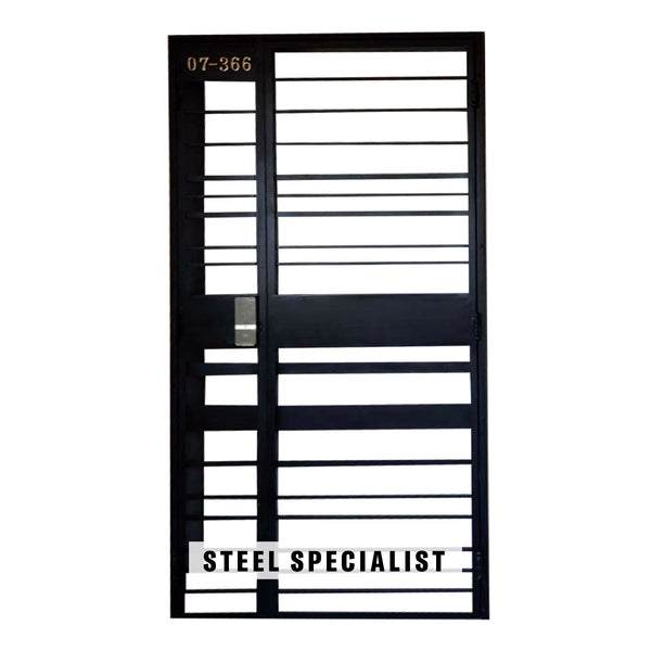 HDB Gate - SH005 Classic Horizontal Uneven-Width Grille - Metal and Aluminium Fabrication