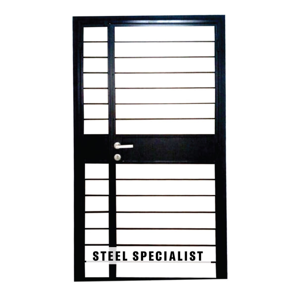 HDB Gate - SH007 Classic Horizontal Straight-Cut Thin Bar - Metal and Aluminium Fabrication