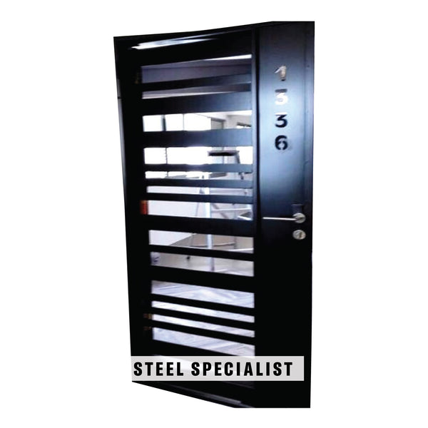 HDB Gate - SH008 Industrial Horizontal Straight-Cut Alternating Grille - Metal and Aluminium Fabrication