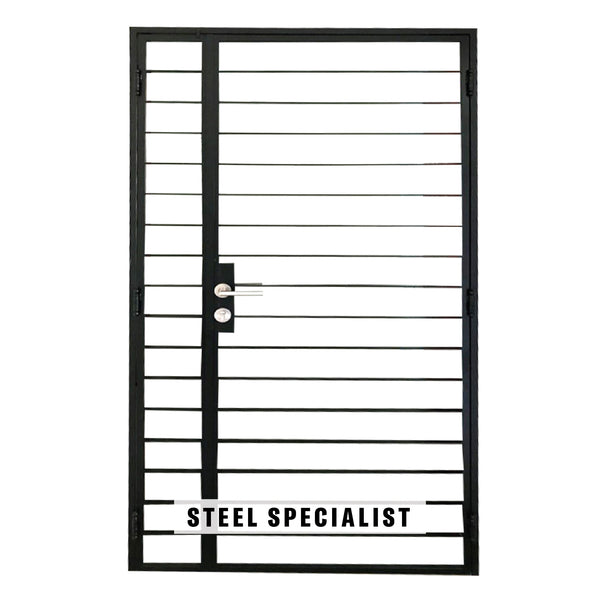 HDB Mild Steel Gate - SH012 Classic Straight-Cut Thin Bar - Metal and Aluminium Fabrication