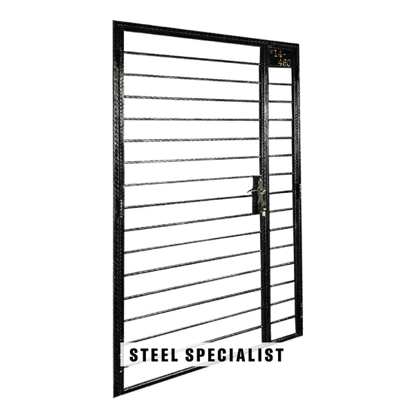 HDB Mild Steel Gate - SH017 Vintage Horizontal Warped Grilles - Metal and Aluminium Fabrication