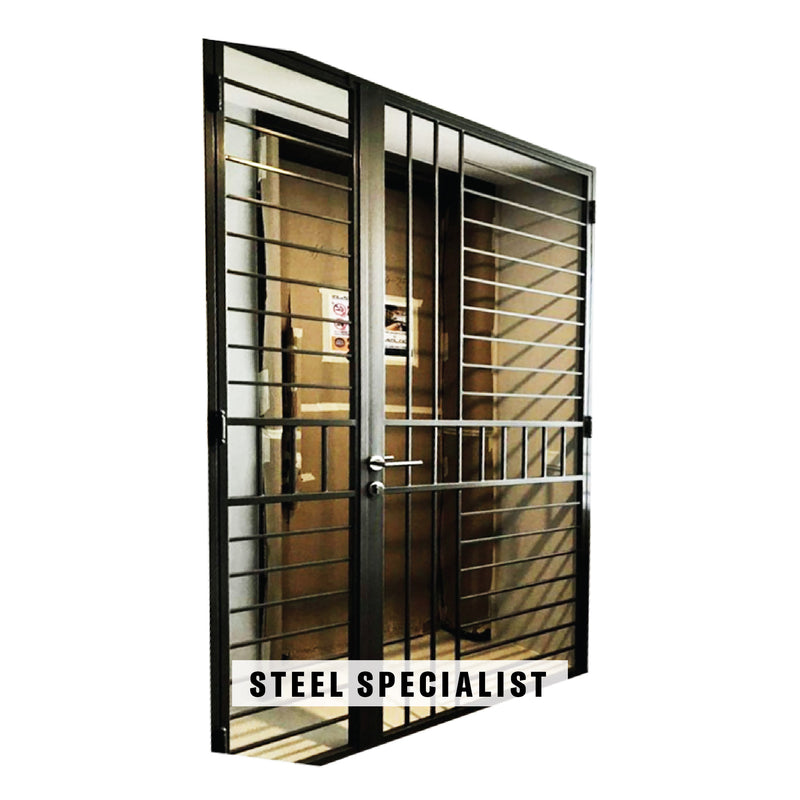 HDB Gate - SH018 Modernist Ladder-Styled - Metal and Aluminium Fabrication