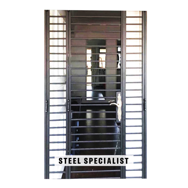 HDB Gates - SH019 Modern Ladder-Styled Straight-Cut Thin-Bar - Metal and Aluminium Fabrication
