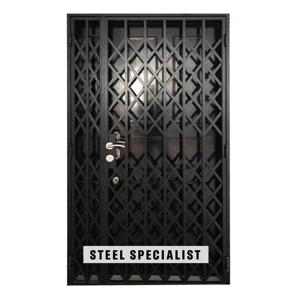 HDB Gate - SH020 Vintage Accordion-Styled Scissors Grille - Metal and Aluminium Fabrication