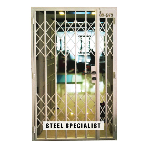 Metal Gate - SH022 Vintage Retro-Style Scissors Grille - Metal and Aluminium Fabrication