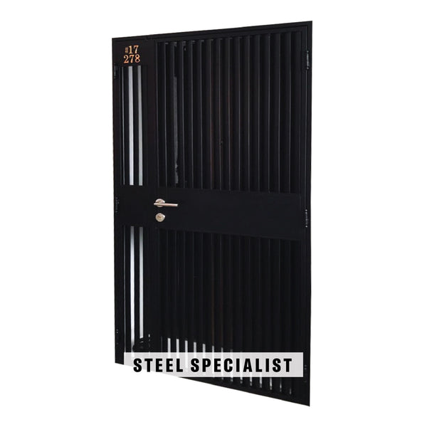 HDB Metal Gate - SH025 Modern Vertical Straight-Cut Privacy Grille - Metal and Aluminium Fabrication