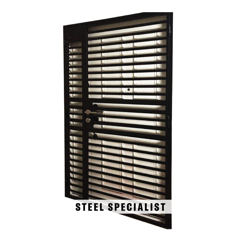 HDB Metal Gate - SH026 Industrial Horizontal Straight-Cut Privacy Grille - Metal and Aluminium Fabrication