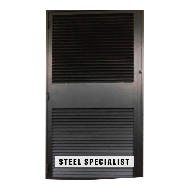 HDB Privacy Metal Gate - SH037 Industrial Straight-Cut Grille - Metal and Aluminium Fabrication