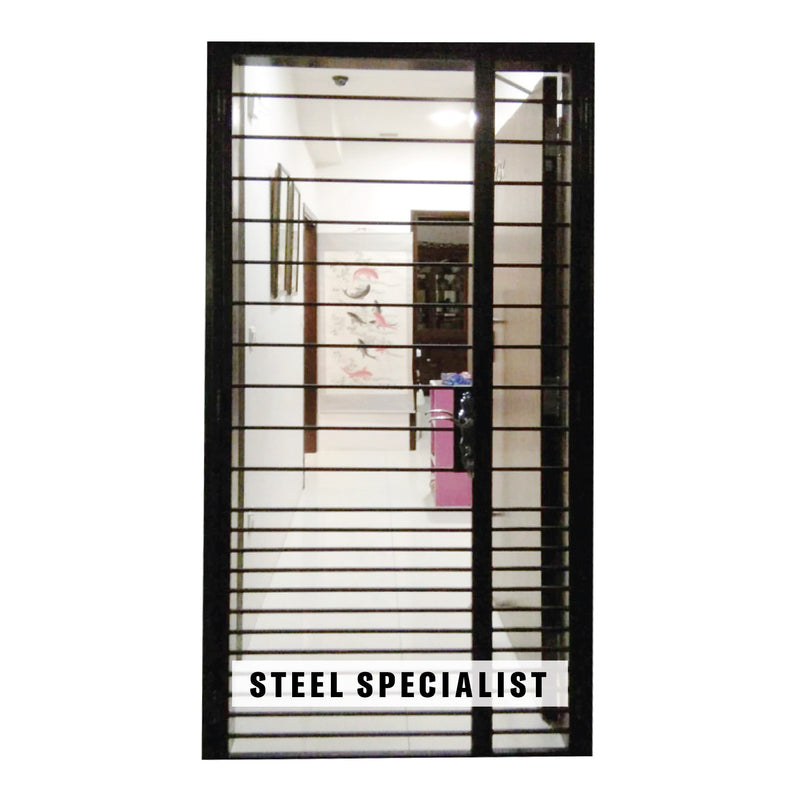 HDB Metal Gate - SH039 Modernist Horizontal Straight-Cut Gradient-Spaced - Metal and Aluminium Fabrication