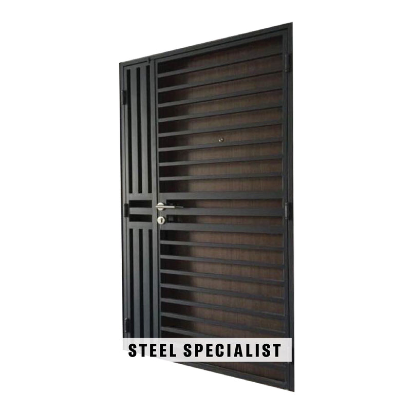 HDB Metal Gate - SH042 Industrial Ladder-Styled Grille - Metal and Aluminium Fabrication